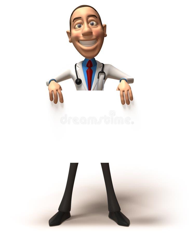 Doutor com uma mensagem ilustração royalty free