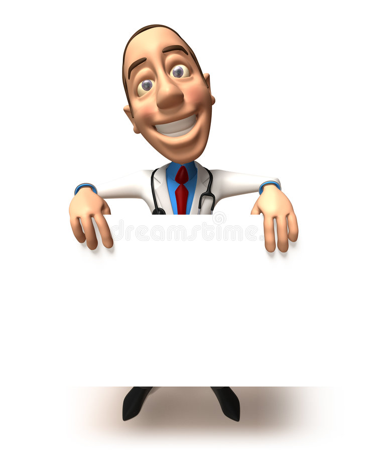 Doutor com uma mensagem ilustração stock