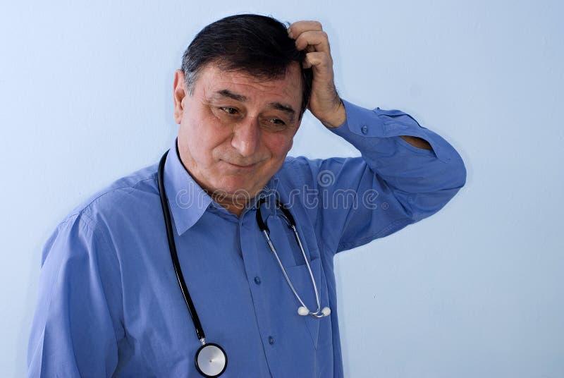Doutor confuso imagens de stock royalty free