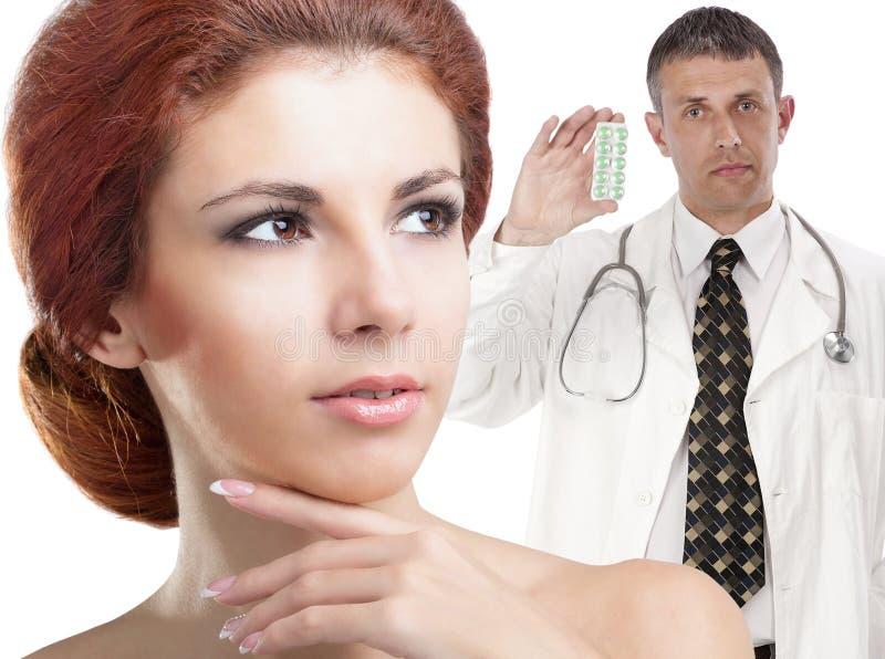 Doutor da fêmea da profissão fotografia de stock