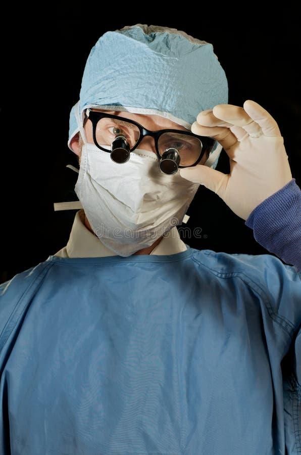 Doutor da microcirurgia imagens de stock royalty free