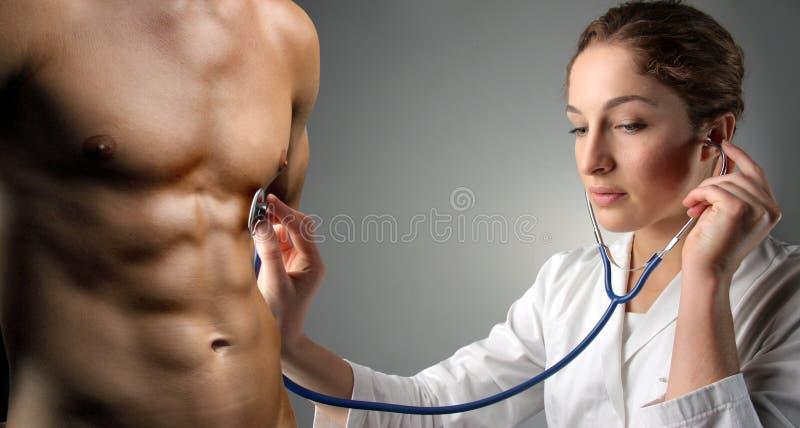 Doutor da mulher foto de stock