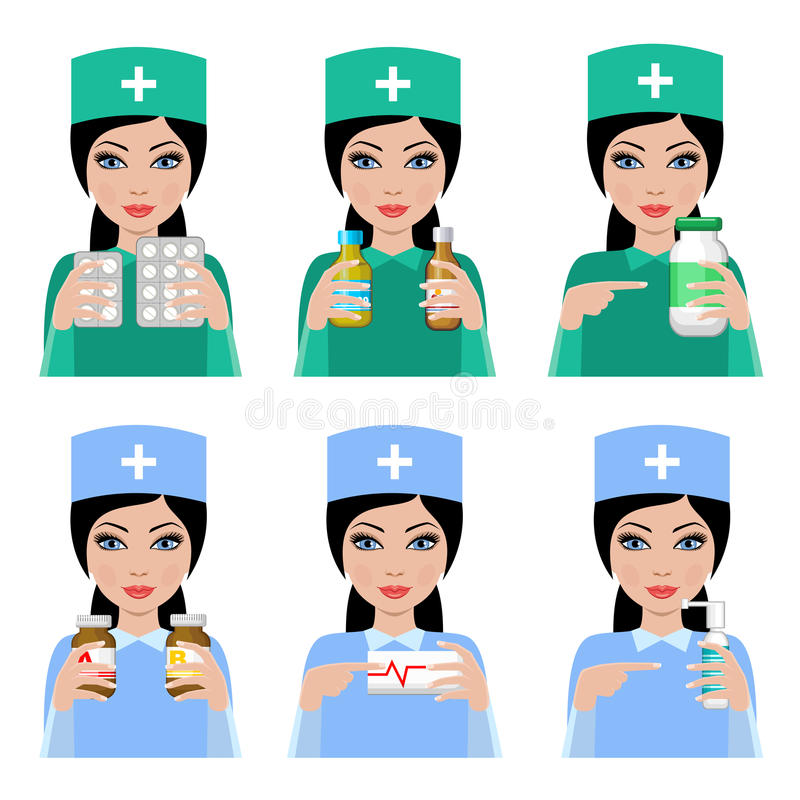 Doutor da mulher ilustração do vetor