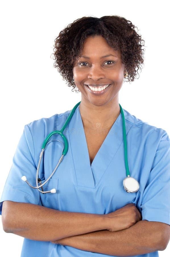 Doutor da mulher do americano africano imagens de stock