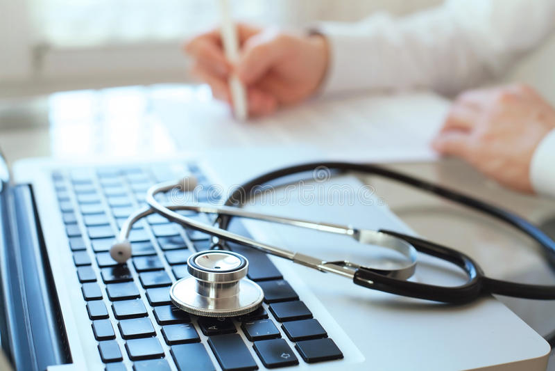 Doutor da visita, conceito do diagnóstico imagens de stock