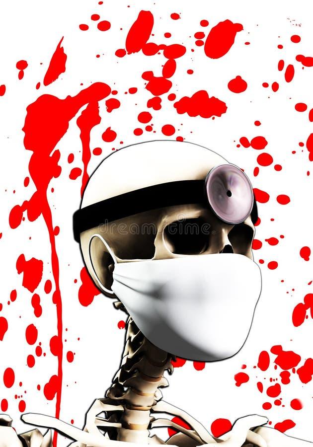 Doutor de esqueleto ilustração royalty free