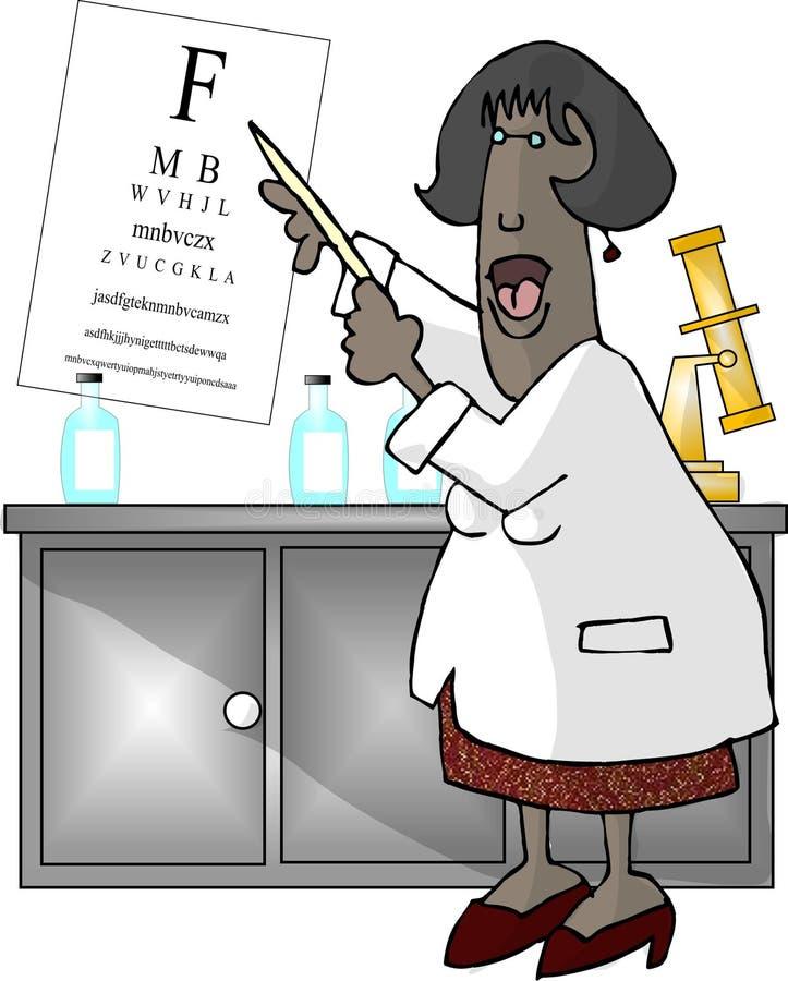 Doutor de olho (fêmea) ilustração do vetor