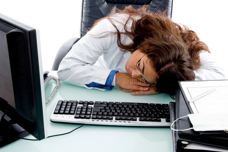 Doutor de sono na clínica fotos de stock royalty free