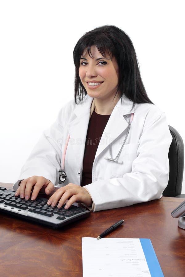 Doutor de sorriso foto de stock