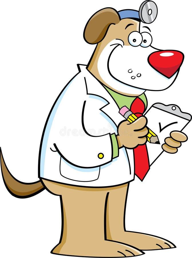 Download Doutor do cão ilustração do vetor. Ilustração de verificação - 26504968