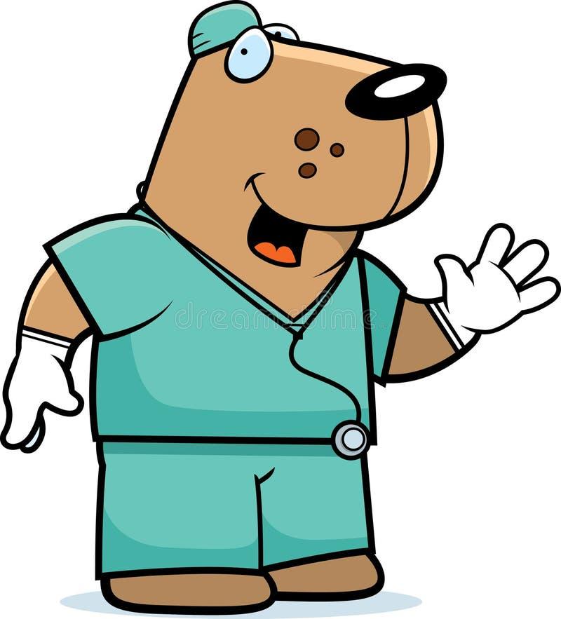 Doutor do cão dos desenhos animados ilustração royalty free