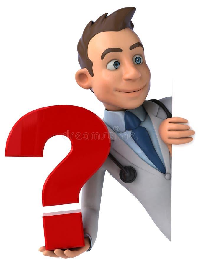 Doutor do divertimento ilustração royalty free