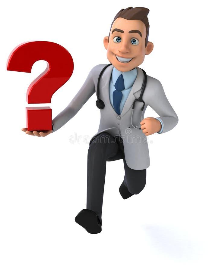 Doutor do divertimento ilustração do vetor