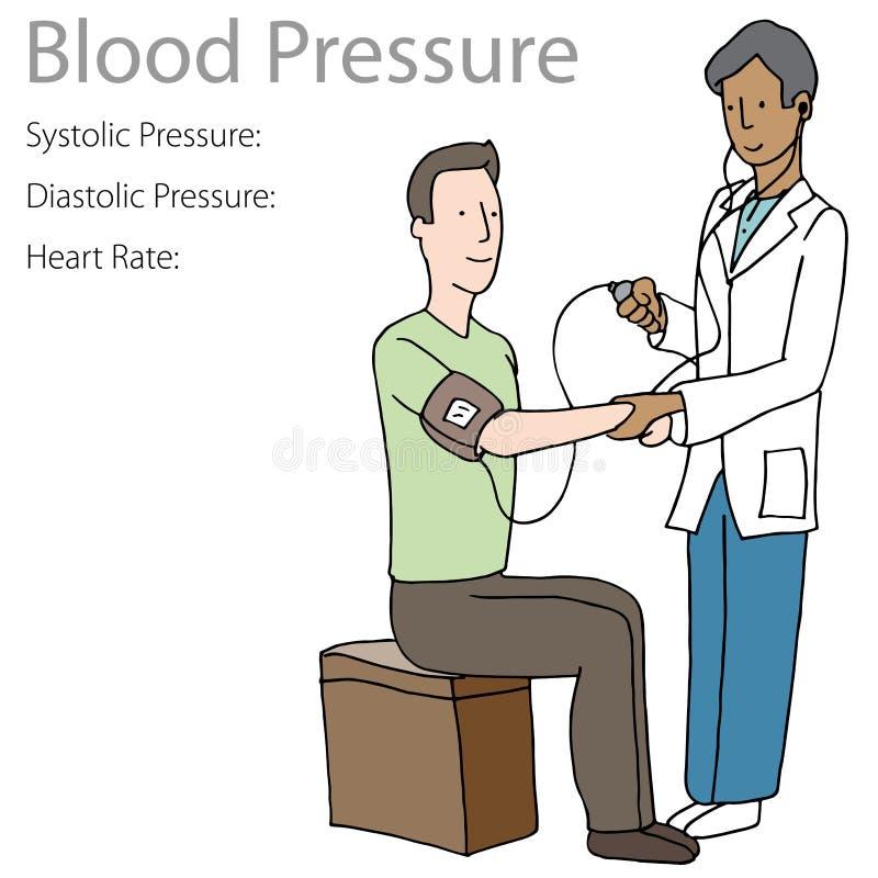 Doutor do paciente do teste da pressão sanguínea ilustração do vetor