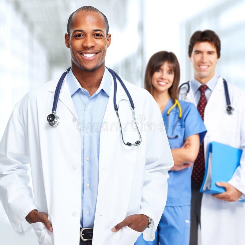 Doutor e enfermeira imagens de stock