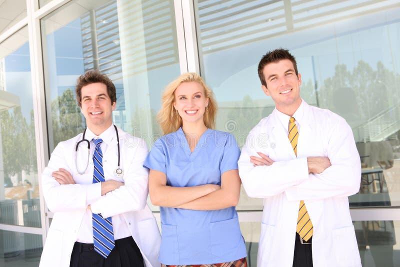 Doutor e enfermeira no hospital fotos de stock royalty free