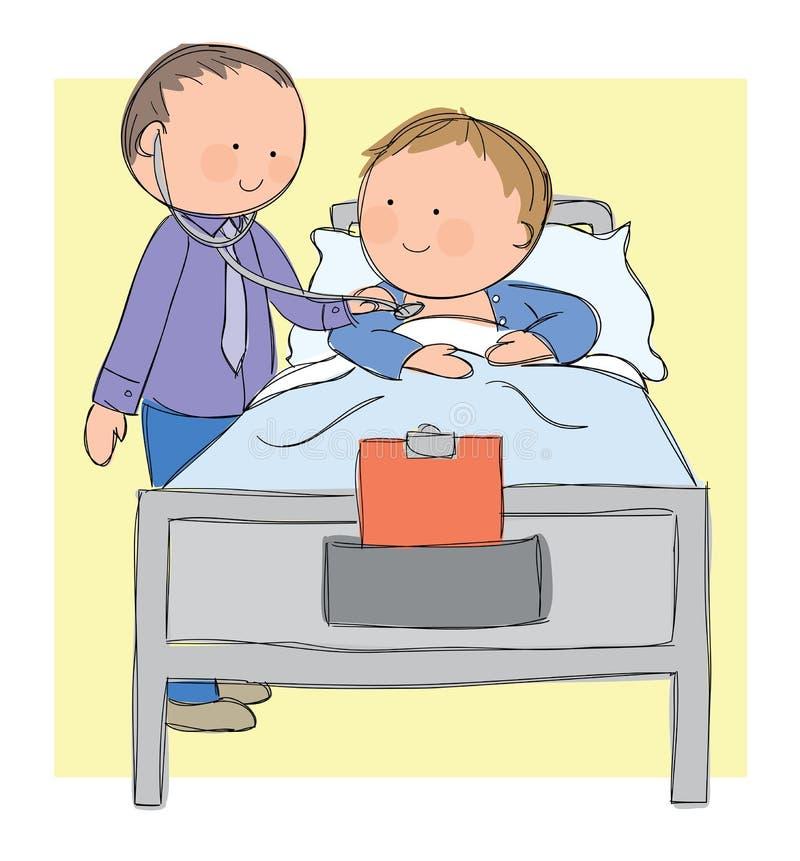 Doutor e paciente ilustração stock