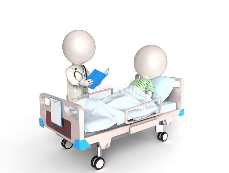 Doutor e paciente ilustração do vetor