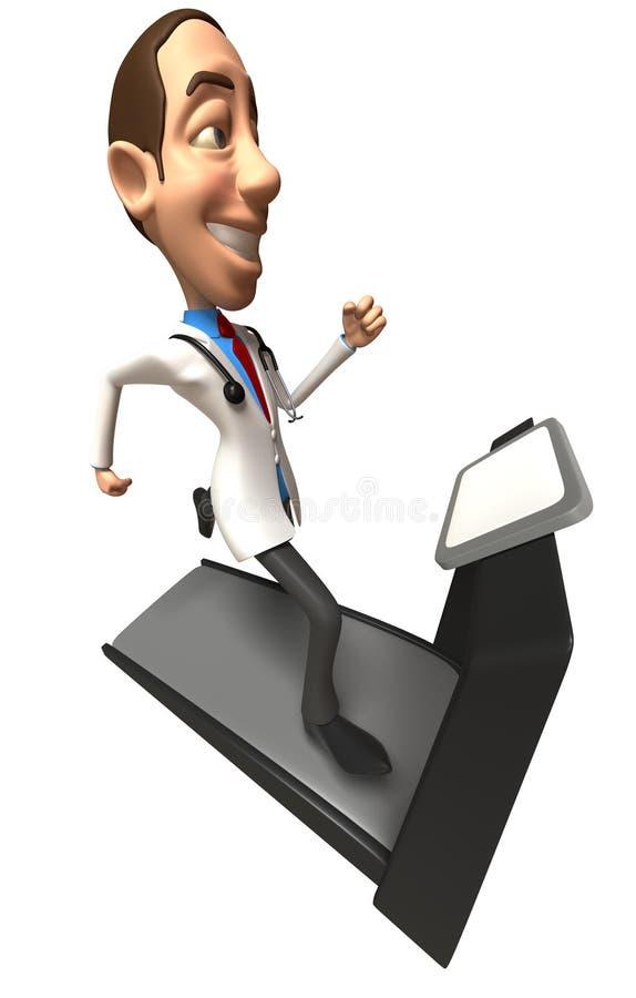 Doutor em uma escada rolante ilustração do vetor