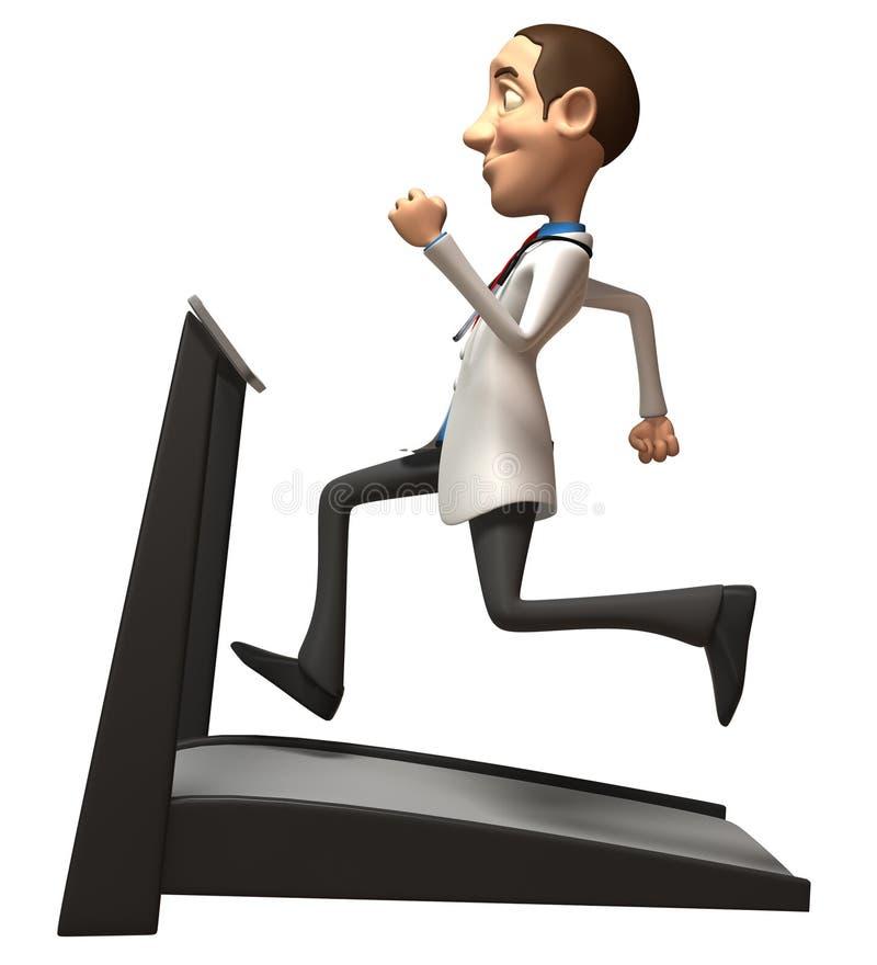 Doutor Em Uma Escada Rolante Fotografia de Stock