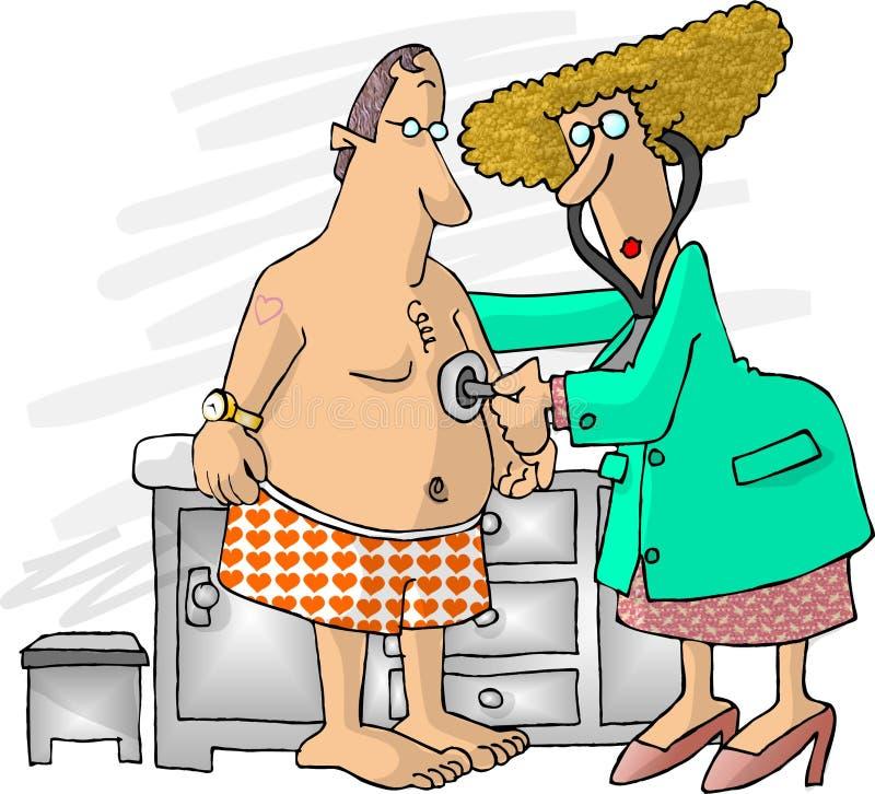 Doutor fêmea ilustração royalty free