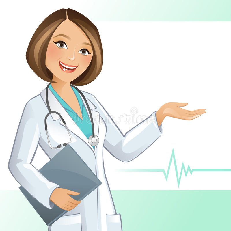 Doutor fêmea ilustração do vetor