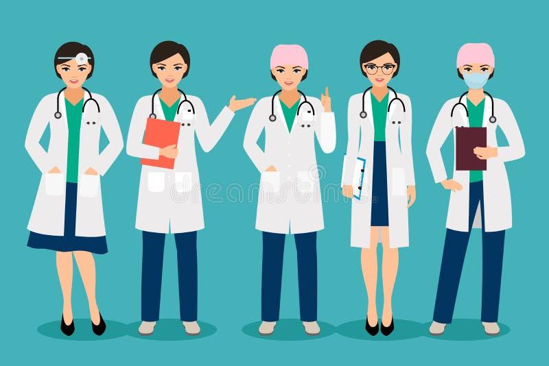Doutor fêmea de sorriso ilustração stock