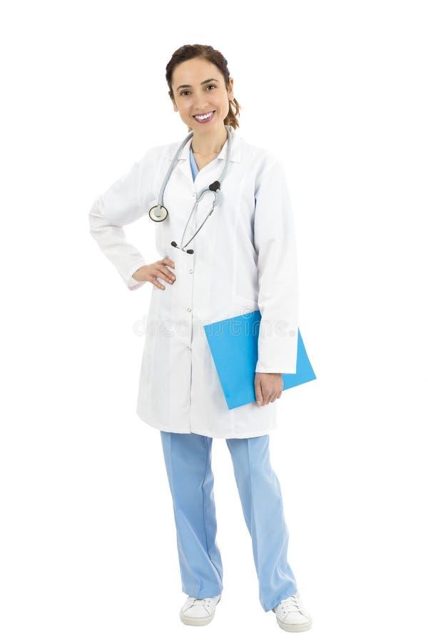 Doutor fêmea, retrato completo do comprimento fotos de stock