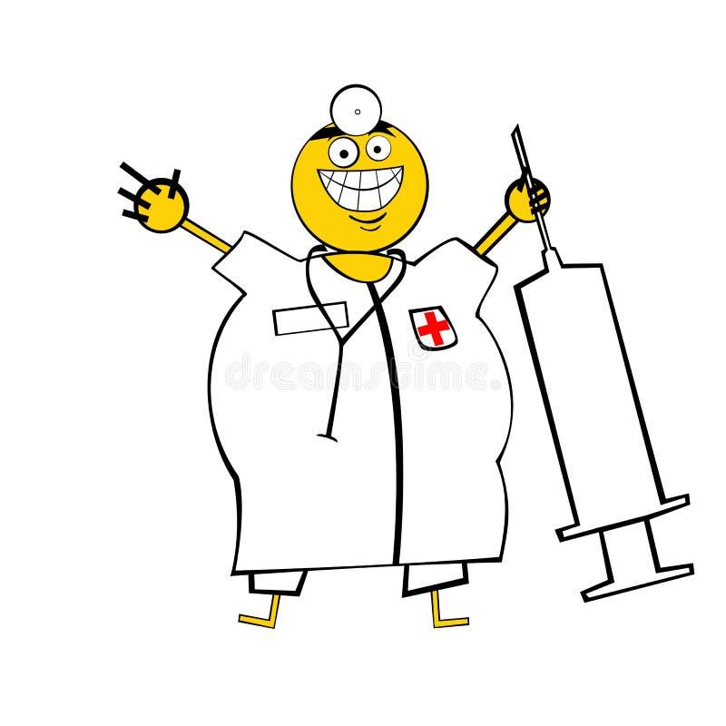 Doutor feliz ilustração royalty free