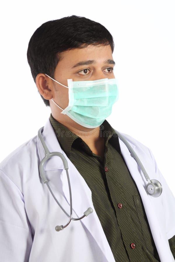 Doutor indiano na máscara fotos de stock royalty free