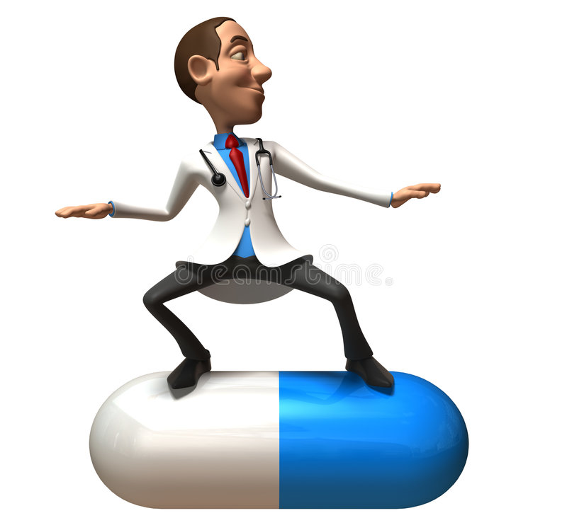 Doutor louco ilustração do vetor
