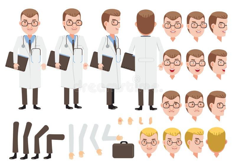 Doutor masculino ilustração stock
