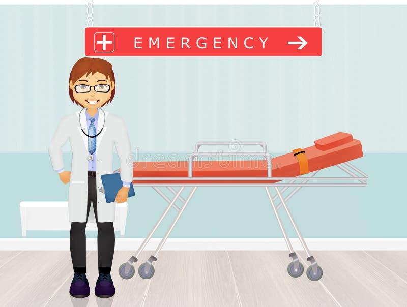 Doutor nas urgências ilustração royalty free