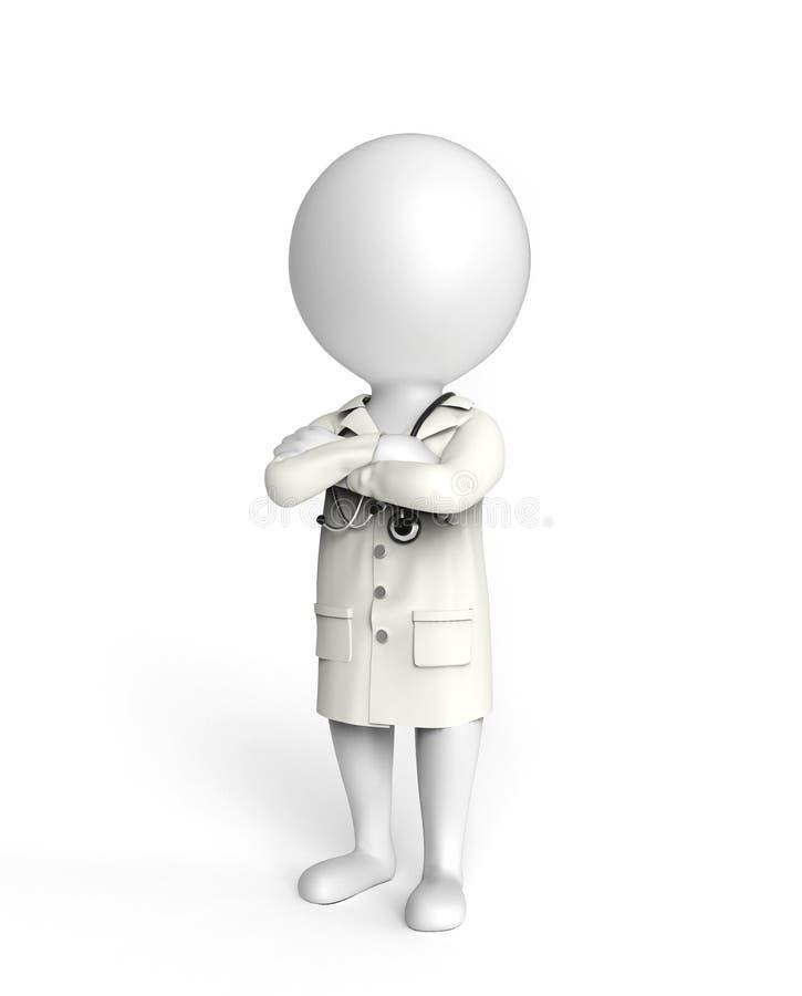 Doutor no branco ilustração do vetor