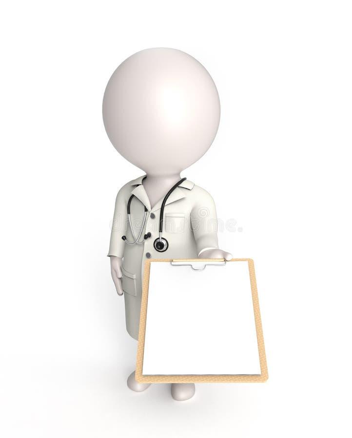 Doutor no branco ilustração stock