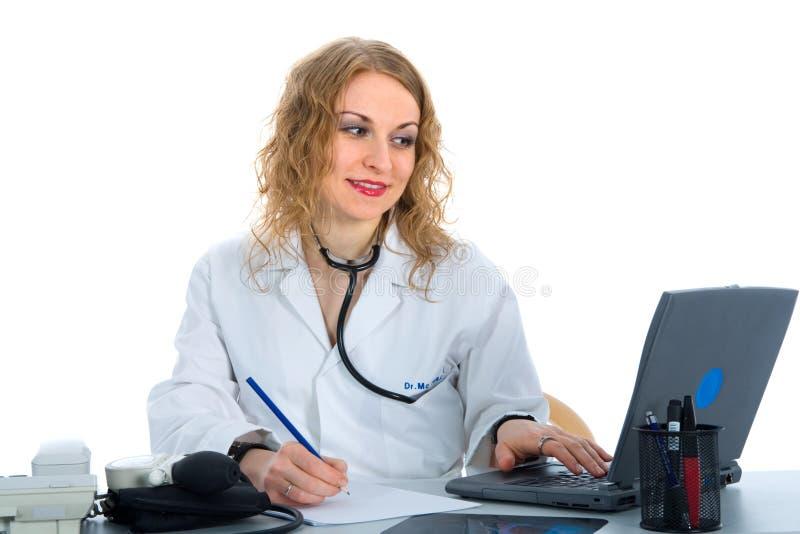 Doutor novo com estetoscópio foto de stock