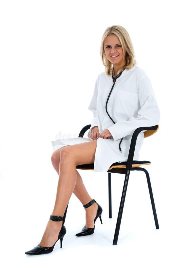 Doutor novo com estetoscópio imagem de stock royalty free