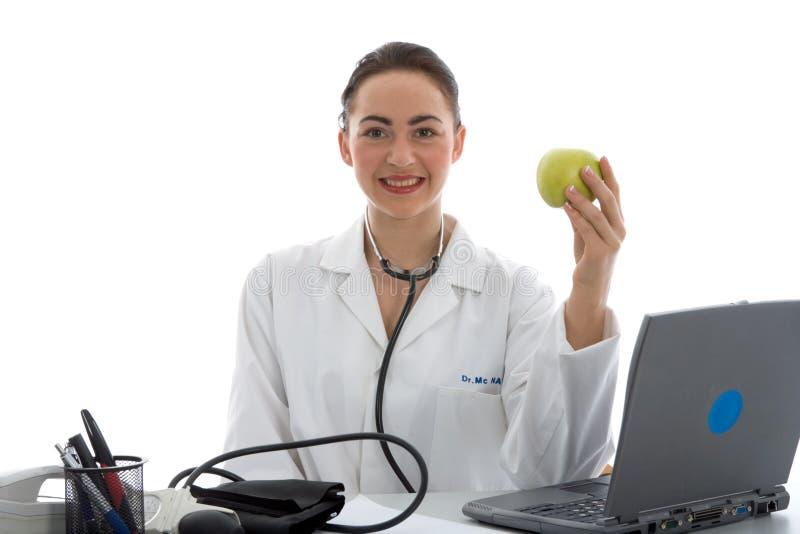 Doutor novo com estetoscópio foto de stock royalty free