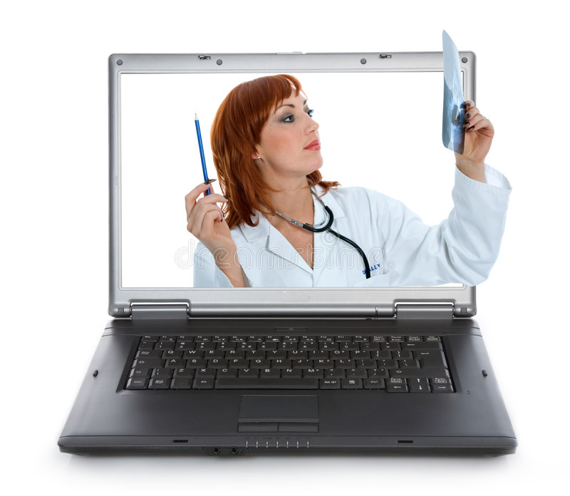 Doutor novo com estetoscópio imagens de stock