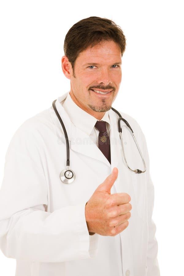 Doutor - o prognóstico olha bom foto de stock
