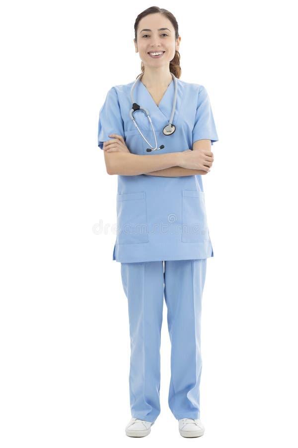 Doutor ou enfermeira fêmea, comprimento completo fotografia de stock