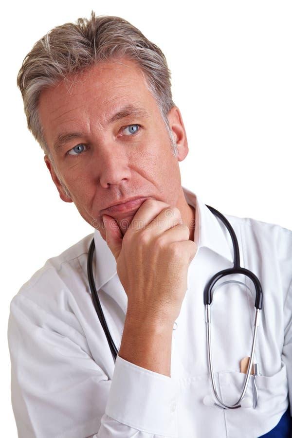 Doutor pensativo fotos de stock