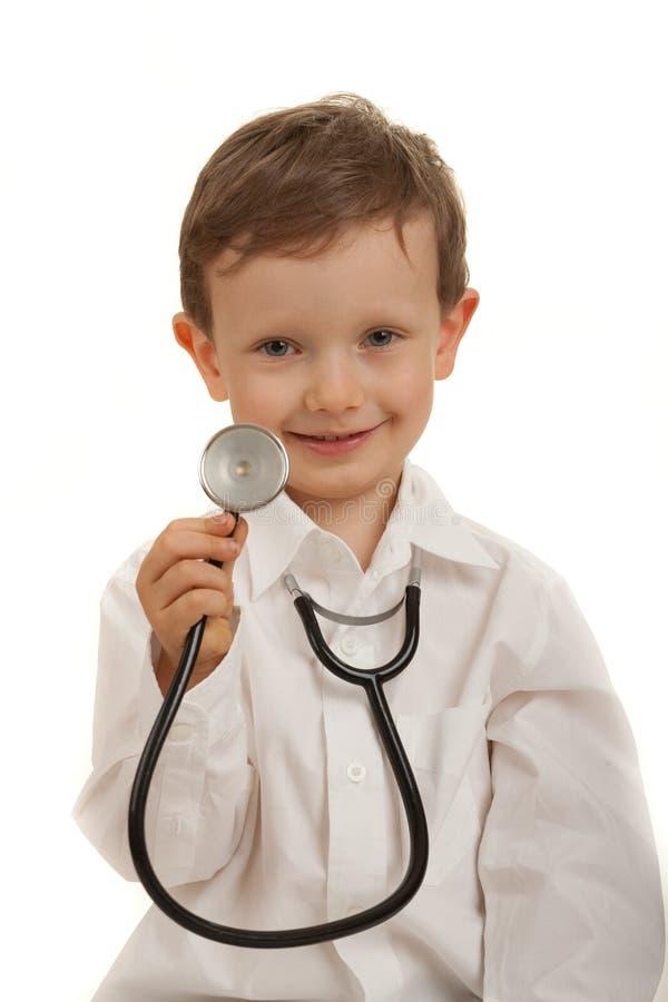 Download Doutor pequeno foto de stock. Imagem de menino, caucasiano - 16865472