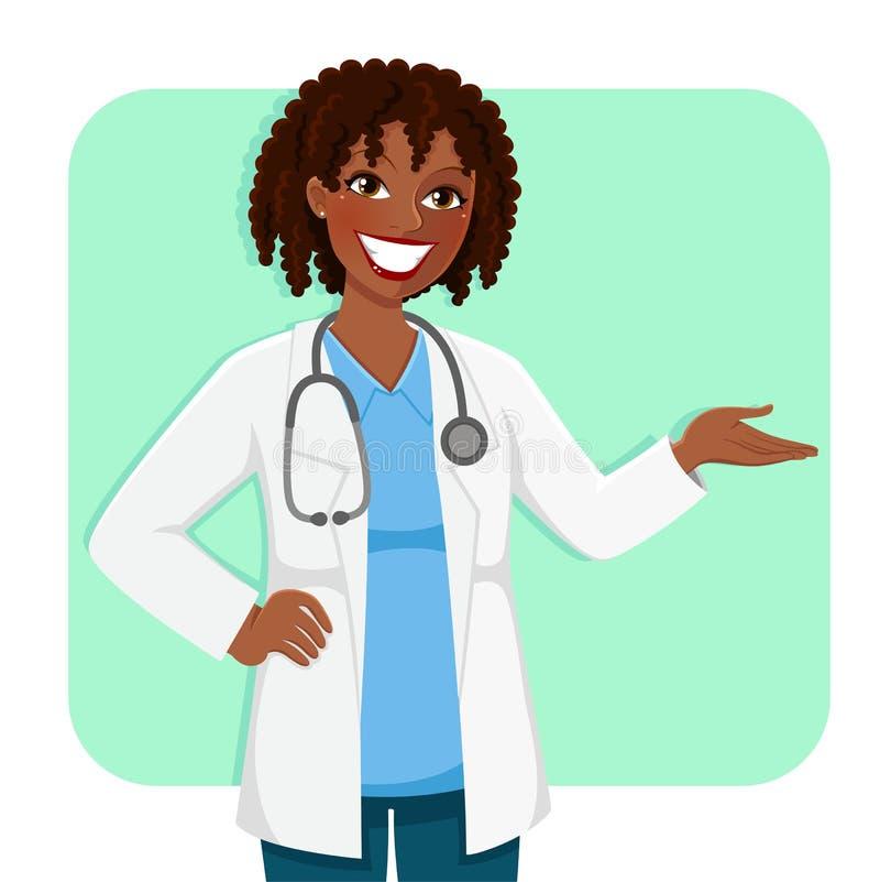 Doutor preto do fwmale ilustração royalty free