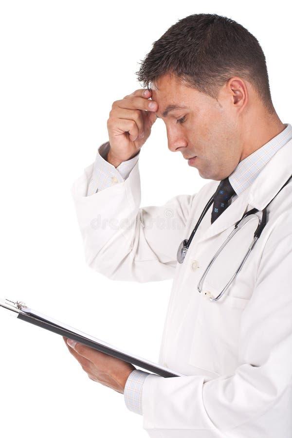 Doutor que olha preocupado fotos de stock royalty free