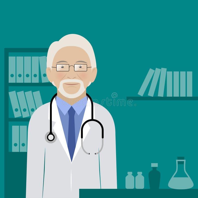 Doutor Seu Escritório ilustração royalty free