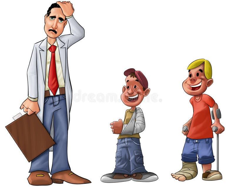 Doutor triste ilustração royalty free