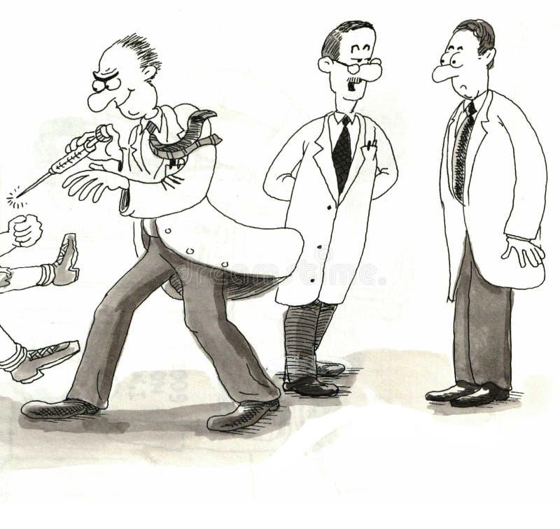 Doutores ilustração royalty free