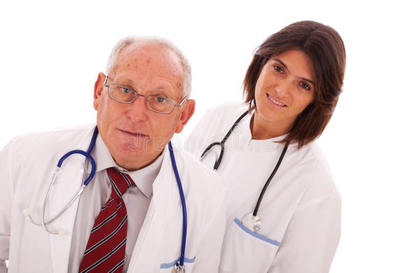 Doutores amigáveis da equipe foto de stock royalty free