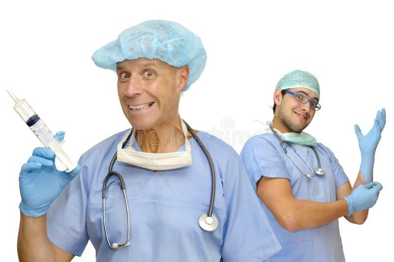 Doutores felizes foto de stock royalty free